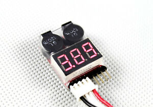 US-Seller-1-8-Cells-Lipo-Battery-Low-Voltage-LED-Indicator-Alarm-Monitor-Meter