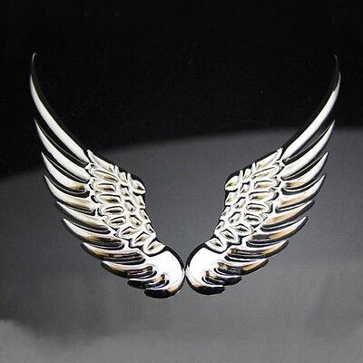 3D Chrome Metal Angel's Wings decoration Badge Emble Sliver Car Auto stickers