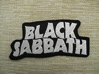 Black Sabbath White Iron On Sew On Embroidered Patch Rock