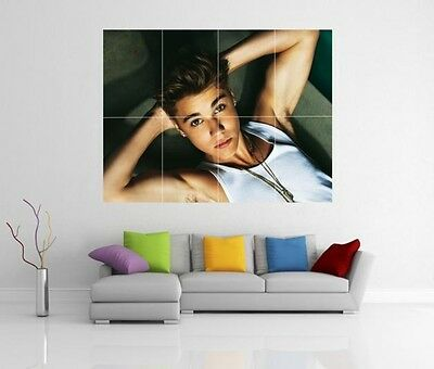 JUSTIN BIEBER GIANT WALL ART PICTURE PRINT POSTER G92