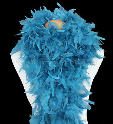 Teal 100 Grams Chandelle Feather Boa Dance Party Halloween Costume