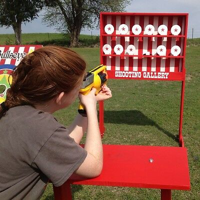 Oversized 50x40 Shooting Gallery Carnival Game.