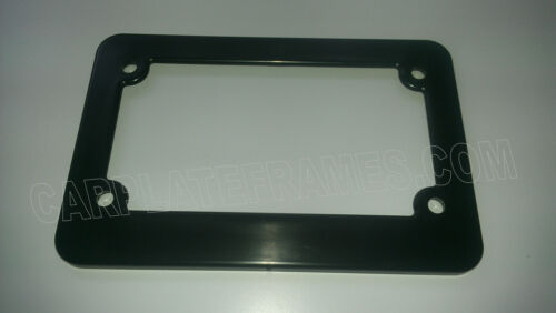LOT OF 2 MOTORCYCLE scooter blank black plastic License Plate Frame