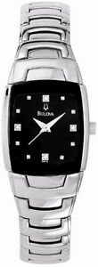 Bulova-Diamond-Steel-Black-Ladies-Watch-96P15