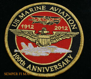 100TH-ANNIVERSARY-US-MARINES-MAW-PATCH-USS-F18-CH53-CH46-AV8-UH1-AH1-V22-C130