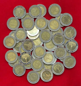 THAILAND-BI-METALLIC-10-BAHT-LOT-OF-50-COIN-USED-CIRCULATED-BIMETAL-MIXED-DATE