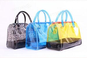Fashion-Women-Sweet-Jelly-Clear-transpare-Bucket-Handbag-Shoulder-Bag-PVC-2-bags