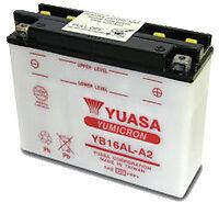 Batterie de moto YUASA YB16AL-A2 avec acide