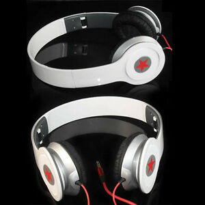 New-White-Headphone-Stereo-Headset-Earphone-Foldable-For-DJ-PSP-MP3-MP4-PC-3-5mm