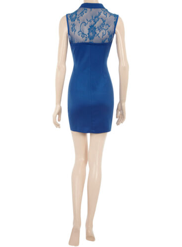 taille 8 à 16 Pour femme neuf noir bleu royal robe avec dentelle en haut