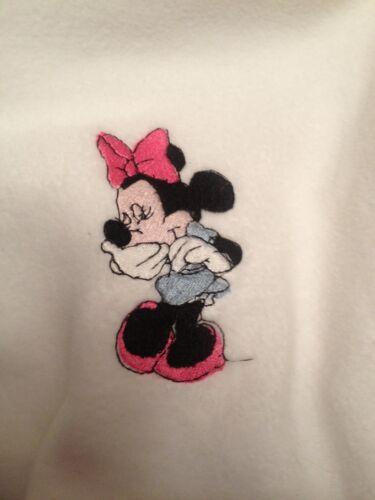 Personnalisé polaire bébé couverture avec minnie mouse facultatif contraste bordure