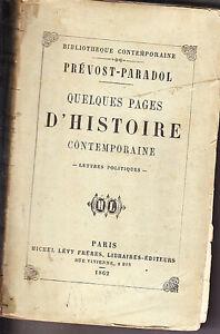 C1-PREVOST-PARADOL-Pages-Contemporaine-LETTRES-POLITIQUES-1862-Second-Empire