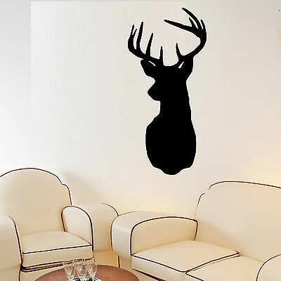 STAG HEAD wall art vinyl room decal decorative STAGS DEER head STICKER