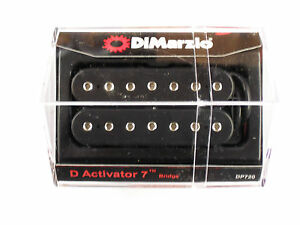 DiMarzio D Activator 7 String Bridge Humbucker Black W/Chrome Poles DP 720