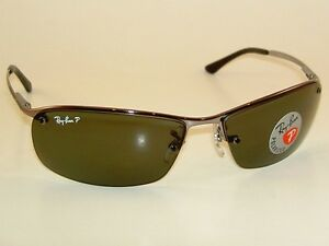new ray ban sunglasses gunmetal frame rb 3183 004 9a polarized gray green lens ebay. Black Bedroom Furniture Sets. Home Design Ideas