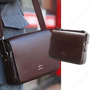 Mens Kangaroo Leather Crossbody Shoulder Messenger Bag Briefcase ...