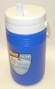 Coleman-1-2-Gallon-1-8L-Jug-Cooler-BLUE-w-Handle-Flip-up-spout-NEW