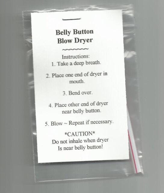 NEW Belly Button Blow Dryer Novelty Gag Gift Prank Joke Stock8ng Stuffer