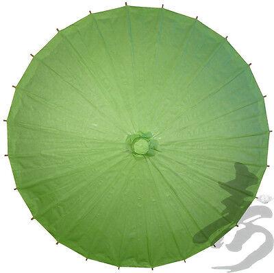 "32"" GRASS GREEN Paper Parasol - handmade bamboo and rice paper umbrella"