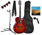 Takamine G Series EG444C-VV NEX Acoustic Electric Guitar, Vintage Violin (736021253438)
