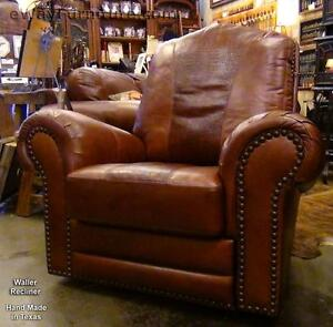 Made In Usa Leather Waller Swivel Rocker Recliner Top