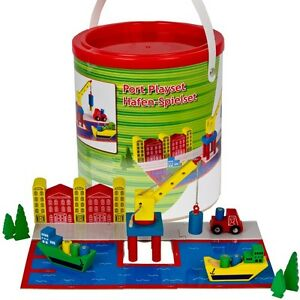Children's Wooden Construction Building Blocks Kids Fun Toy Storage ...
