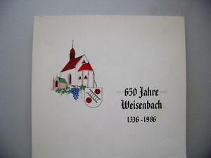 650 Jahre Weisenbach 1336-1986 Festbuch - Eggenstein-Leopoldshafen, Deutschland - 650 Jahre Weisenbach 1336-1986 Festbuch - Eggenstein-Leopoldshafen, Deutschland