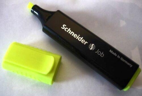 TEXT Marker Textmarker Schneider Job 1+5 mm in den Farben gelb orange grün pink