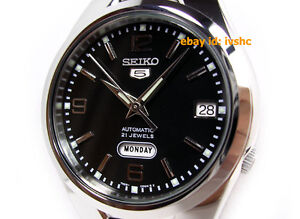 SEIKO-5-SNK623-SNK623K1-21-Jewels-Black-Automatic-30m-WR