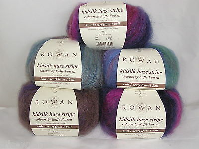 ROWAN Kidsilk Haze Stripe x 50 gms ~ Choose Colour