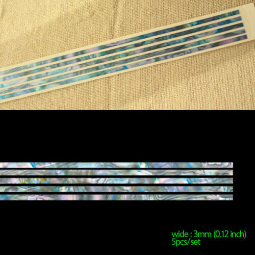 "Stick-0.12""/3mm (Abalone-Mixed) Inlay Sticker Decal Guitar"