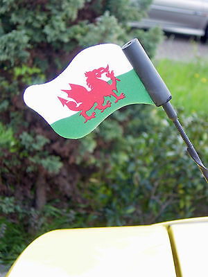 Wales Welsh Cymru Six Nations Rugby Car Aerial topper Flag FREE UK P&P Bargain