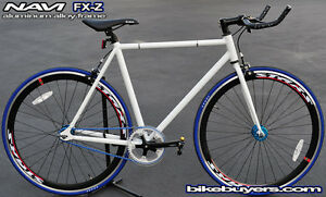 NAVI-FX-Z-Aluminum-Alloy-Fixie-Fixed-Gear-road-Bikes-Bicycles-54cm-540mm-wht