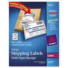 """Avery Dennison Ave-5127 Shipping Label With Paper Receipt - 5.06"""""""