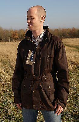 Herren Mit Gürtel Original Wachsjacke 100% Baumwolle Bicker Style Angepasst