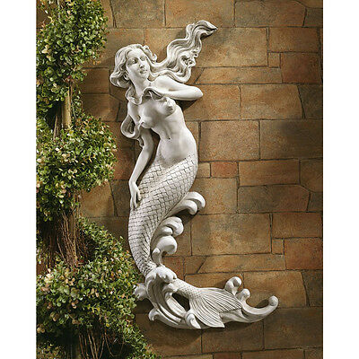 "31"" Mermaid of the Cove Aquatic Dreams Flowing Home & Garden  Wall Sculpture"