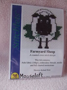 Mini Elefante Cross Stitch Kit por Mouseloft