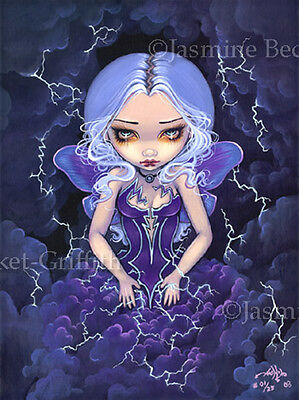 Dress of Storms fairy lowbrow gothic art Jasmine Becket-Griffith CANVAS PRINT