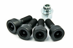 BMW-Genuine-Locking-Wheel-Bolts-Locks-Set-1-3-5-6-Series-Z4-36136786419