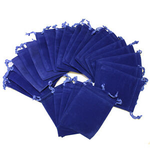 50Pcs-ROYAL-BLUE-3x4-Jewelry-Pouches-Velvet-Gift-Bags