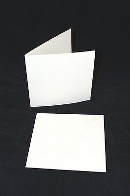 "50 x White 6"" x 6"" Square Card Blanks and Envelopes"