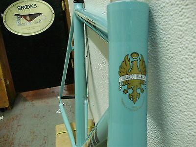 track frame&fork Bianchi Super Pista Celeste with Celeste Fork  59cm.