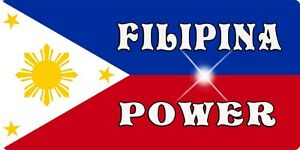 """Philippine Flag Decal Bumper Sticker Large 4"""" x 8"""" Personalize Gifts Filipino"""