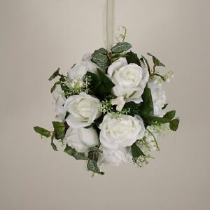 Pomander 8 hanging bouquet silk wedding kissing ball flowers 32 image is loading pomander 8 034 hanging bouquet silk wedding kissing mightylinksfo