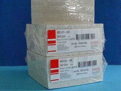 Filterschichten für die Grobfiltration, 20 x 20 cm
