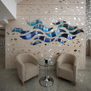 """""""Rip Tide"""" Blue Metal Wall Art Sculpture Modern Abstract ..."""