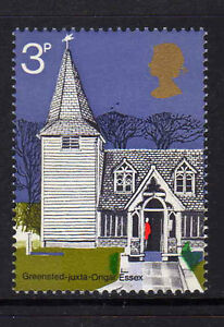 GREAT BRITAIN 1972 3p CHURCHES WITH EMBOSSING OMITTED SG 904Ec MNH.