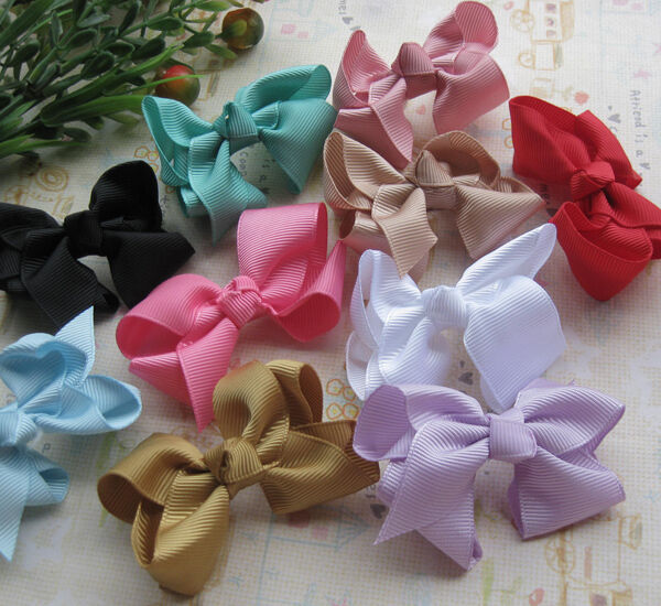 E181 Upick Grosgrain Flowers Bows Appliques Crafts Wedding Sewing Decorations