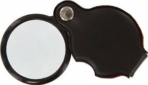 5X-1-5-034-Glass-Lens-Folding-Pocket-Magnifier-Padded-Pouch-MF2054B-US-FREE-SHIPPER