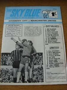 08-11-1969-Coventry-City-v-Manchester-United-Folded-Team-Changes-Scores-On-B